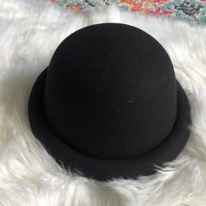 Rolled Brim Bowler Hat